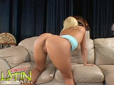 Busty blonde latin teen gets facialed06